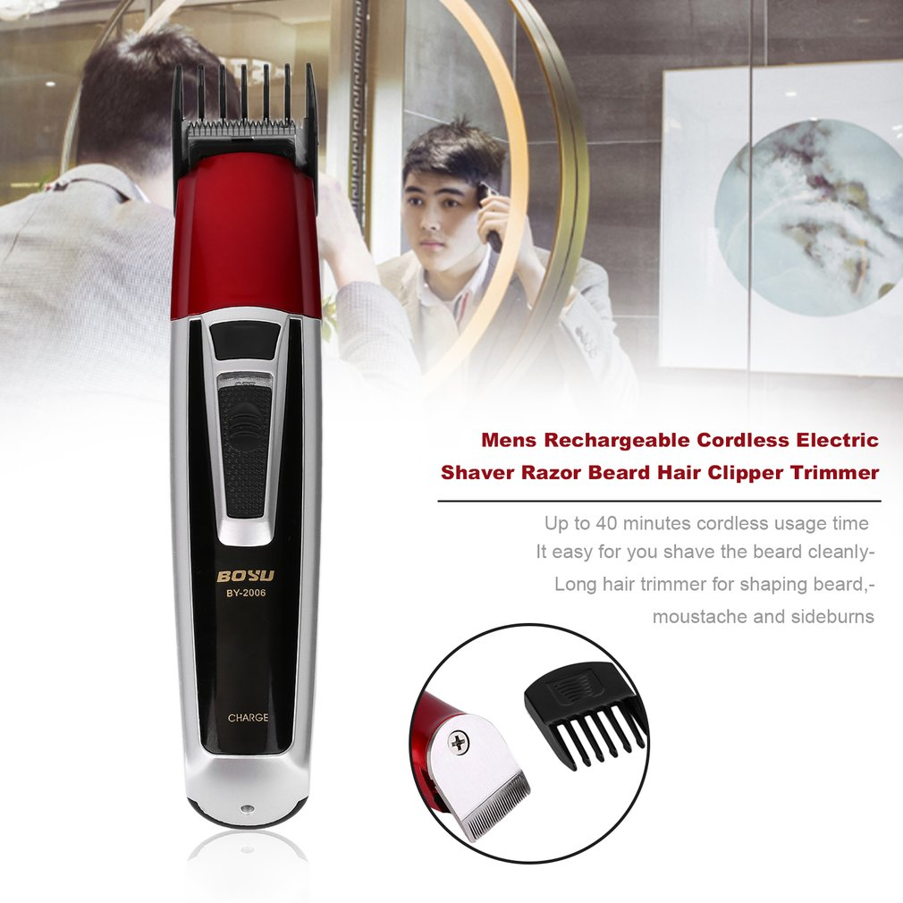 Mens Rechargeable Cordless Electric Shaver Razor Beard Hair Clipper Trimmer