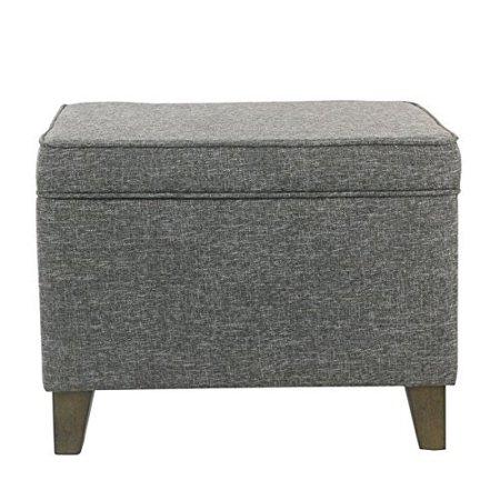Medium Gray Slate - HomePop Medium Storage Ottoman - Slate Gray