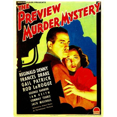 The Preview Murder Mystery Reginald Denny Frances Drake On Midget Window Card 1936 Movie Poster Masterprint