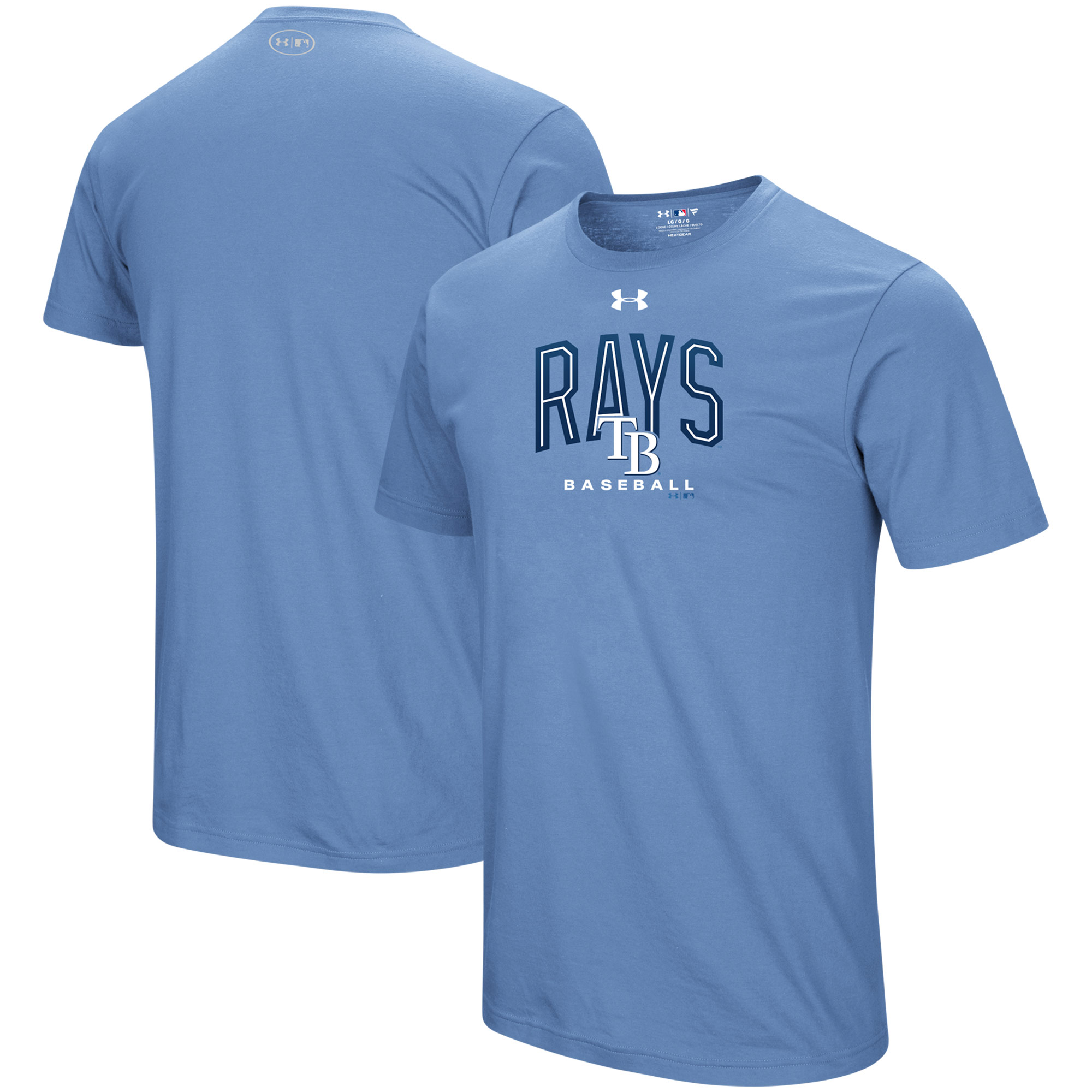 Tampa Bay Rays Under Armour Performance Arch T-Shirt - Light Blue