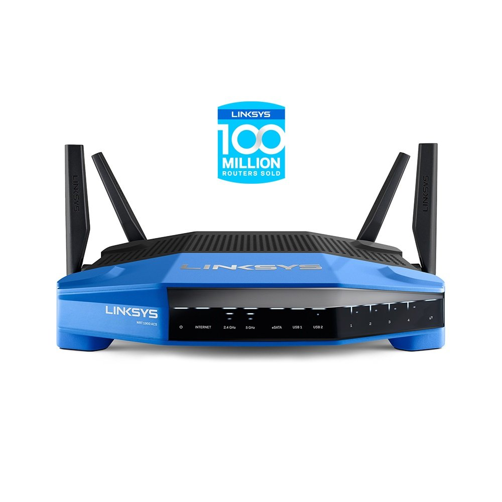 Linksys Wrt1900acs Ieee 802.11ac Ethernet Wireless Router 2.40 Ghz Ism Band 5 Ghz Unii Band[4 X External] 1900... by Linksys