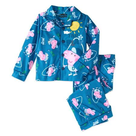 Peppa Pig George Toddler Boys Button Front Pajamas  2 Piece Set