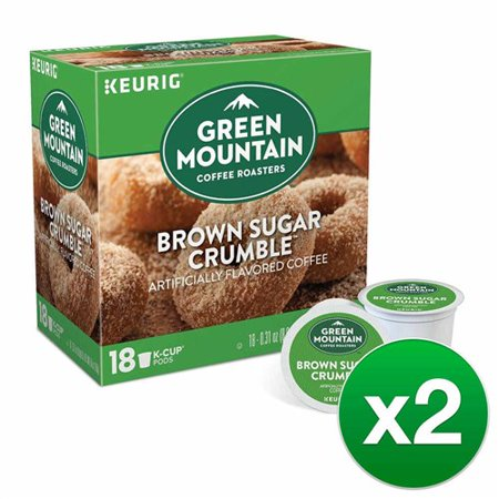 Green Mountain Coffee Roasters Brown Sugar Crumble, 1 Serve Coffee K-Cup Pod, Flavored Coffee, 36