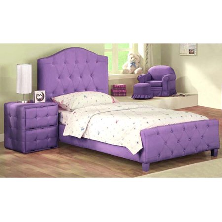 Diva Upholstered Twin Bed Footboard Pur Walmart Com