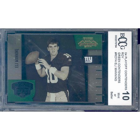2004 Nfl Playoffs (2004 playoff contenders roy green #4  ELI MANNNG rookie BGS BCCG 10)