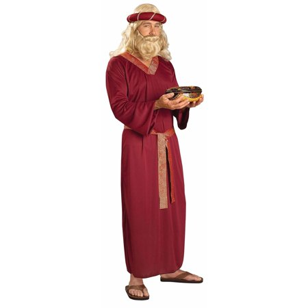 Burgundy Wiseman Costume for - Costums For Men