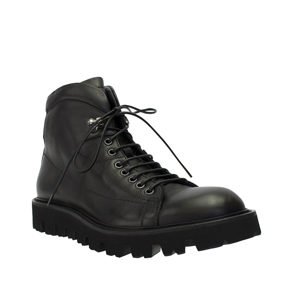 Click here to buy Angelo Burlinetto Mens Black Leather Hiking Boot.