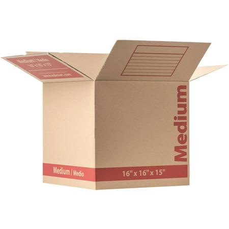 medium corrugate kraft box 16 x 16 x 15 brown. Black Bedroom Furniture Sets. Home Design Ideas