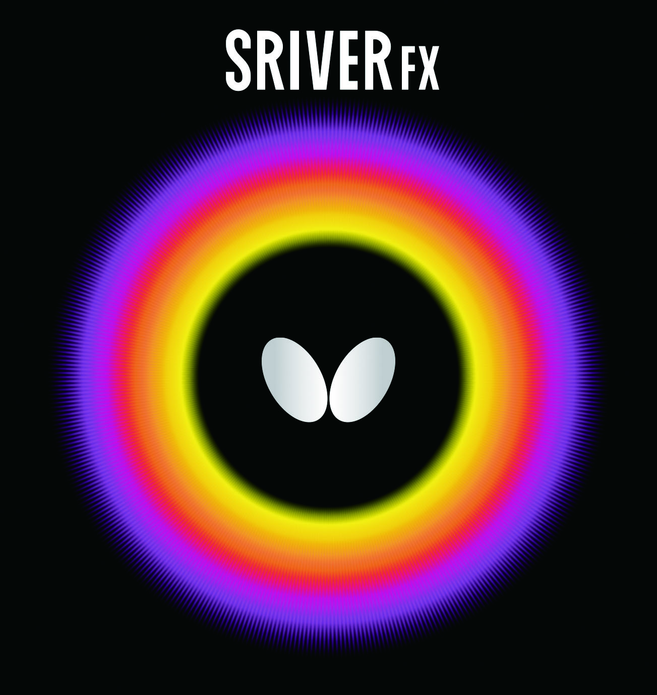 Butterfly Sriver-FX Table Tennis Rubber, 1.9 mm, Red