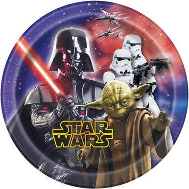 Star Wars 7 Inch Paper Plates [8 Per Pack] - Star Wars Paper Plates