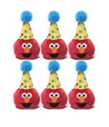Gund Sesame Street 3.5 inch Birthday Beanbag Pals (6 Elmo) by Gund