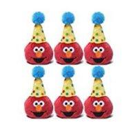 Gund Sesame Street 3.5 inch Birthday Beanbag Pals (6 Elmo)