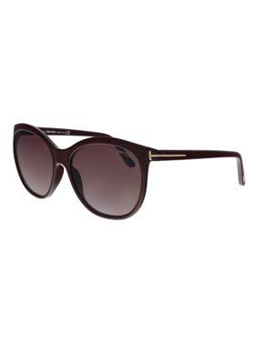 Tom Ford FT0568 69T Geraldine-02 Burgundy  Square Sunglasses