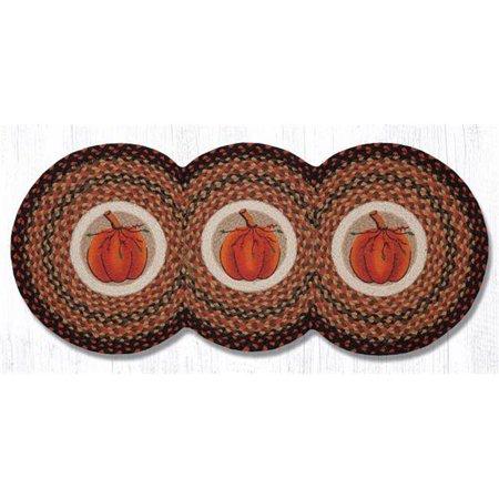 Capitol Importing 95-222HP 15 x 36 in. Harvest Pumpkin Tri Circle Runner Rug - image 1 de 1