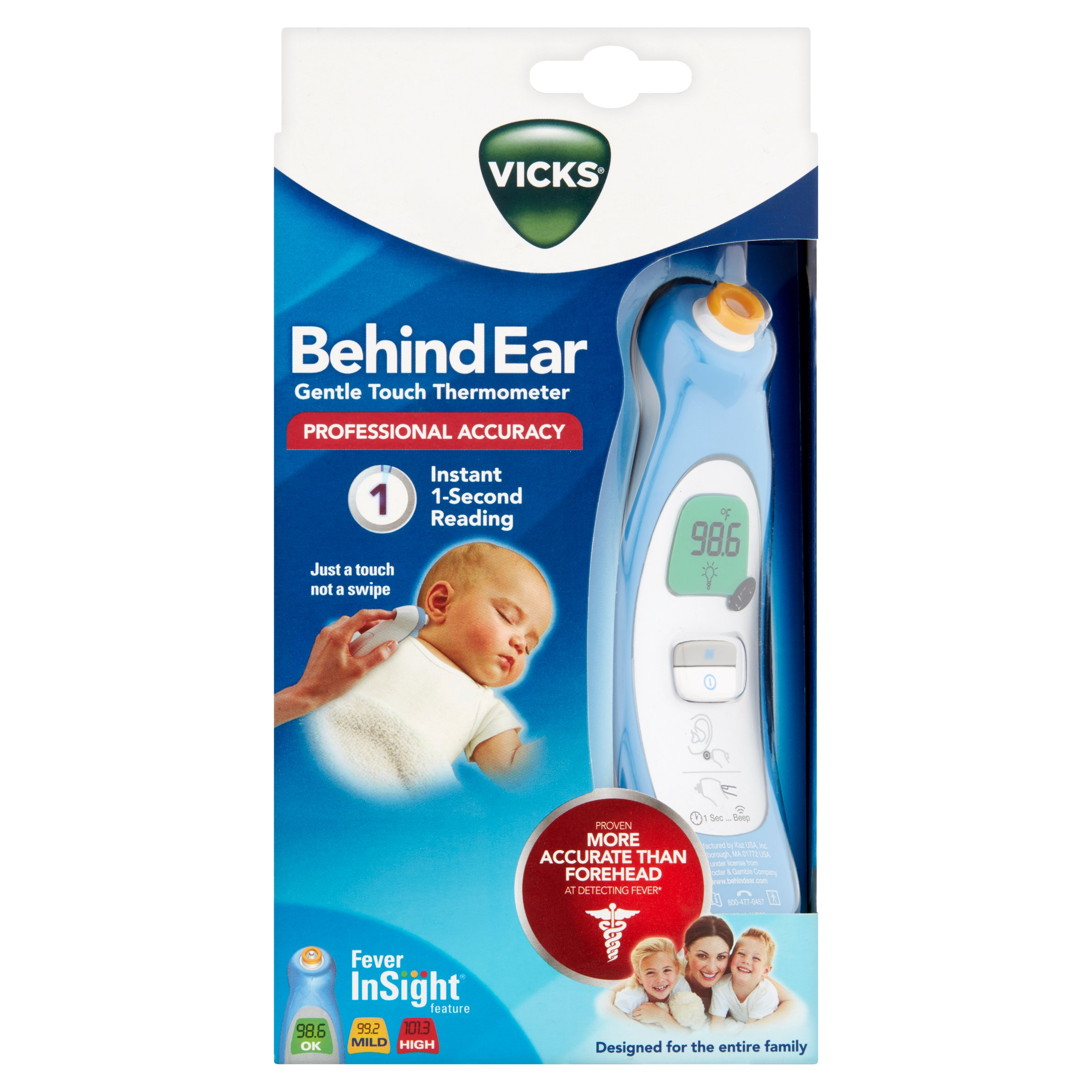 Vicks Behind Ear Gentle Touch Thermometer - Walmart.com