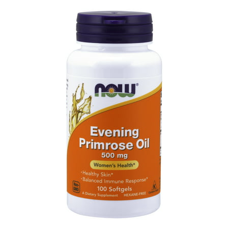 NOW Supplements, Evening Primrose Oil 500 mg with Naturally Occurring GLA (Gamma-Linolenic Acid), 100 Softgels (Efa Gold Evening Primrose Oil)