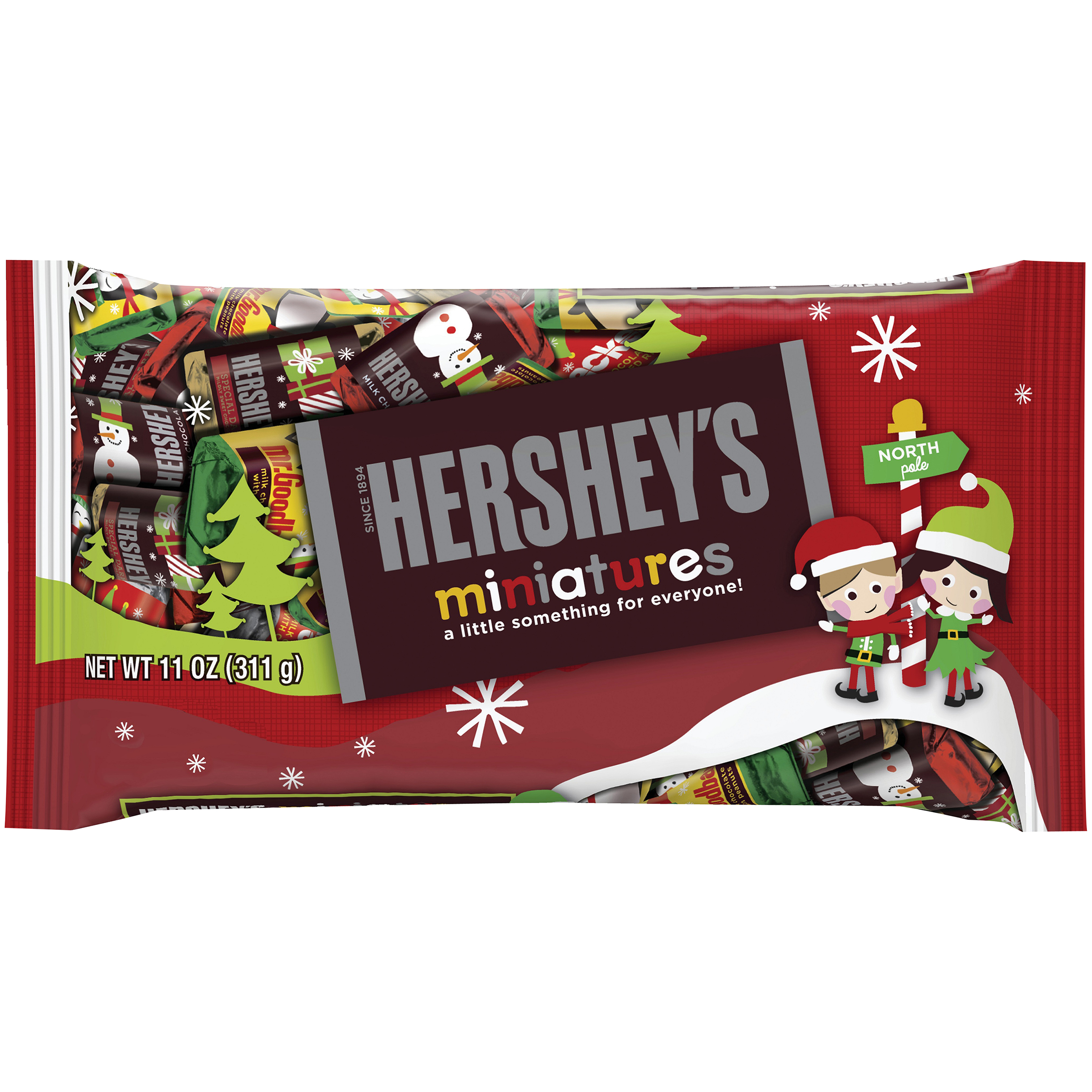 HERSHEY'S Holiday Miniatures Assortment, 11 oz