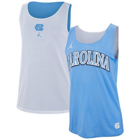 North Carolina Tar Heels Nike Women's Reversible Performance Mesh Tank Top - Carolina Blue/White
