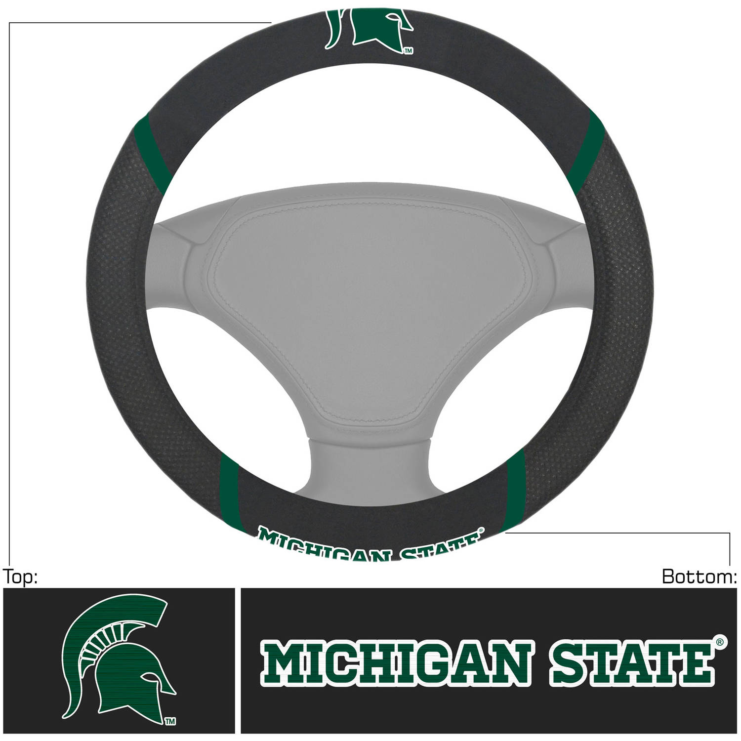 Michigan State University Steering Wheel Cover