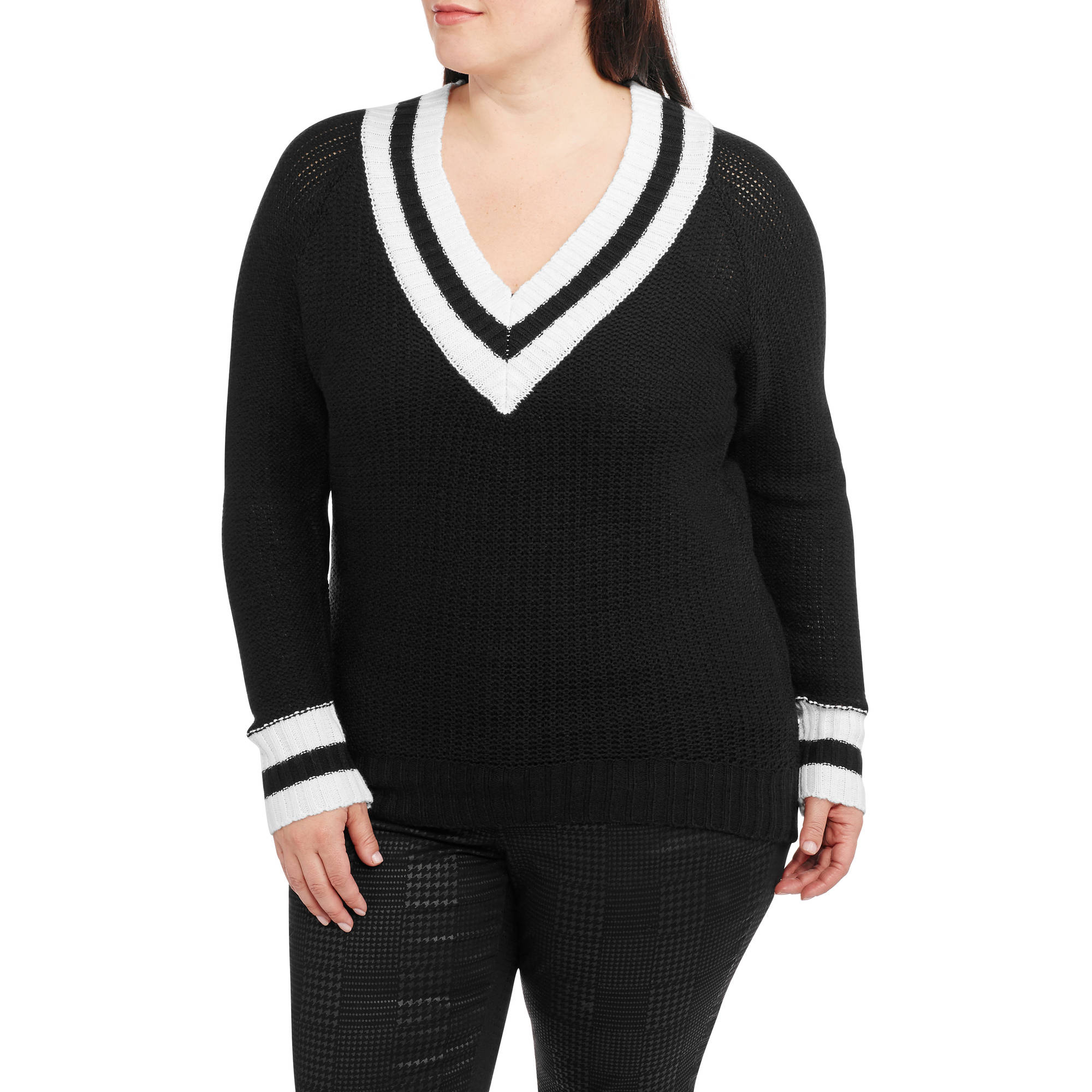 V Neck Sweater Plus 96
