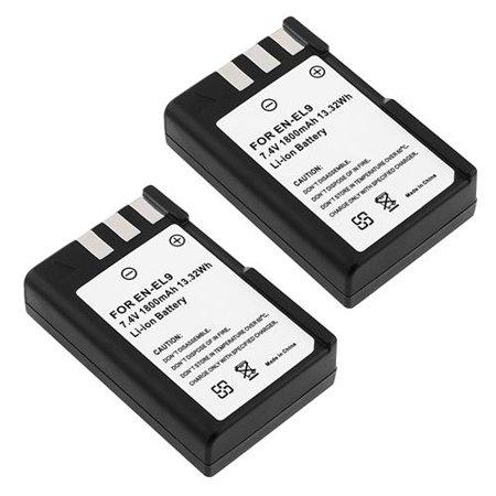 Insten 2X EN-EL9 EN-EL9A Rechargeable Battery For Nikon D40 D60 D40x D3000 D5000 D3X ()