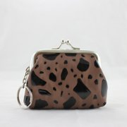 Pouch Locket Jewelry Travel Case - Brown - 3L x 2.6W in.