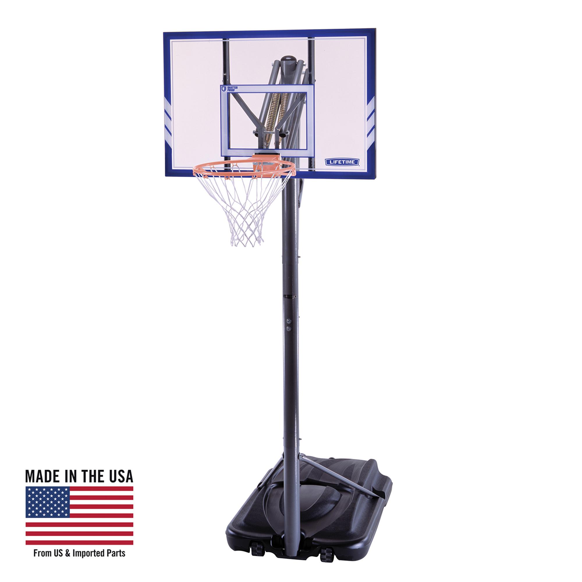 Lifetime Adjustable Portable Basketball Hoop (44-Inch), 71546
