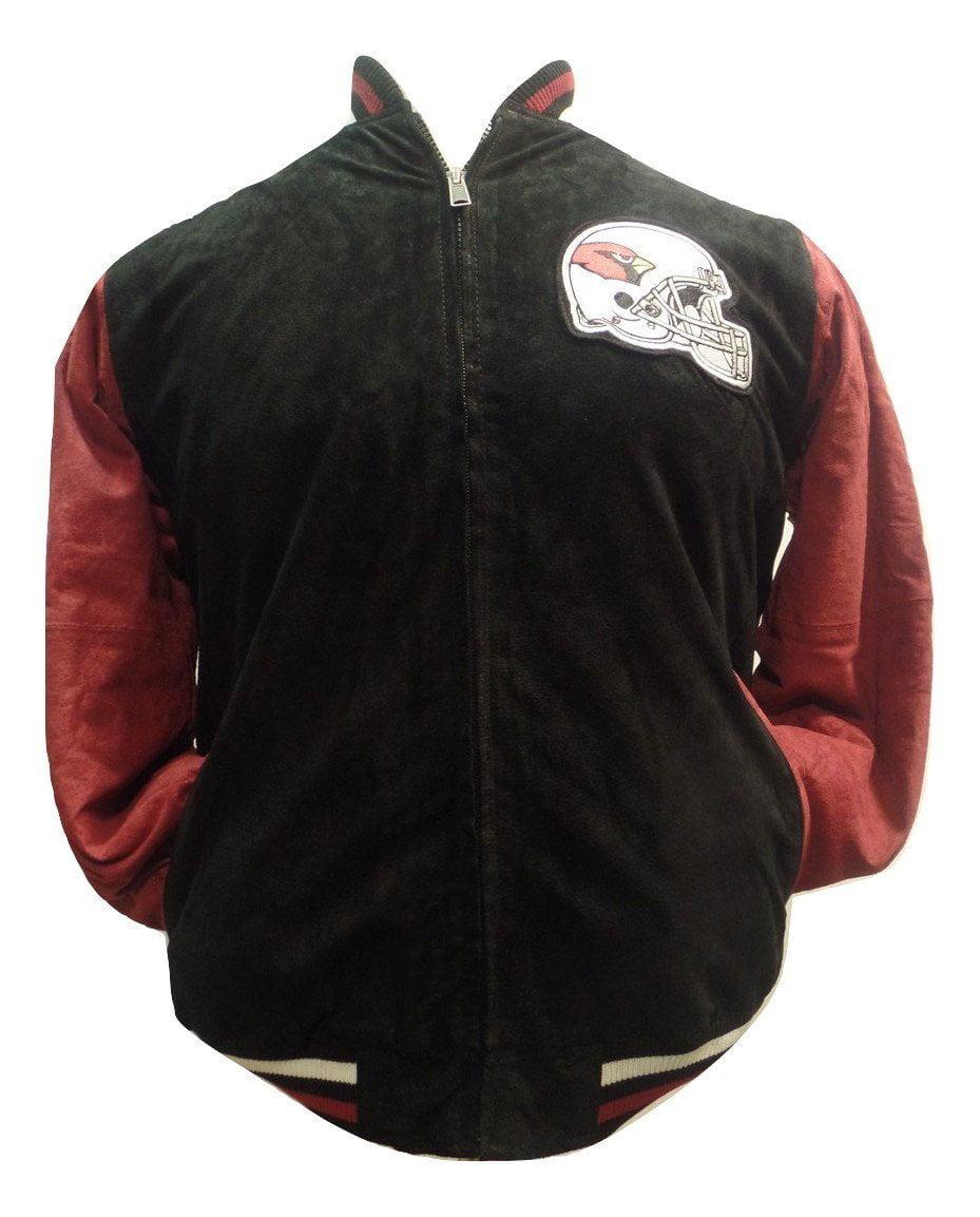 Arizona Cardinals Black Two-Tone Suede Jacket by G-III Sports