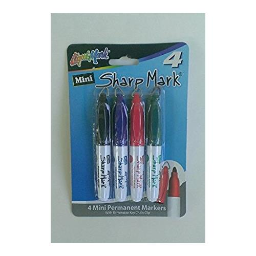 SHARP MARK PERMANENT MARKER W/KEYCHAIN