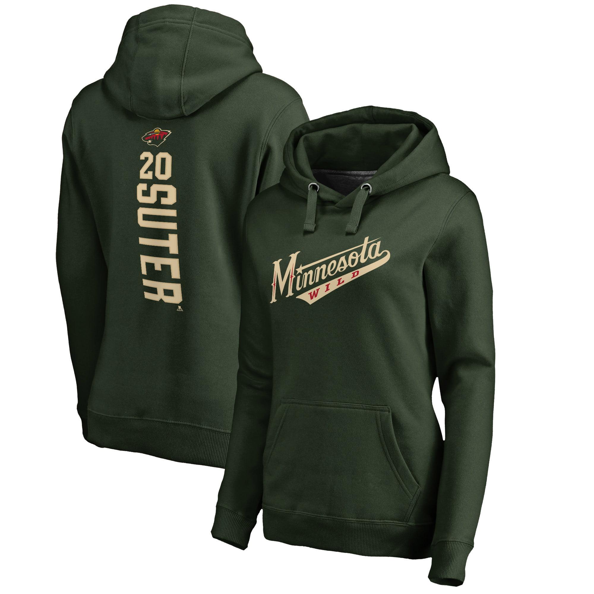 Ryan Suter Minnesota Wild Fanatics Branded Women's Backer Pullover Hoodie - Green