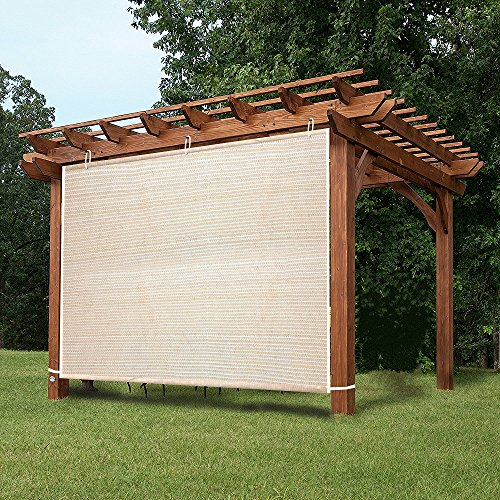 EZ2hang Garden Shade Fabric Adjustable Vertical Side Wall Panel For Patio/ Pergola/Window 5x5ft