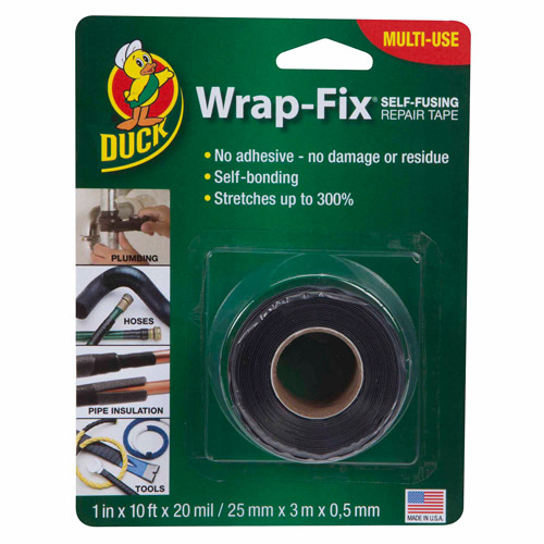"Duck Brand Wrap-Fix Self-Fusing Silicone Tape, 1"" x 10'"