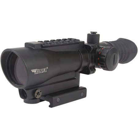 BSA TW30RDL Tactical Weapon Illuminated Red Dot Sight Black Finish with Laser