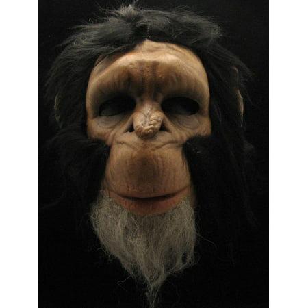 Chimpanzee Costume Half Face Mask Adult One Size (Chimpanzee Costume)