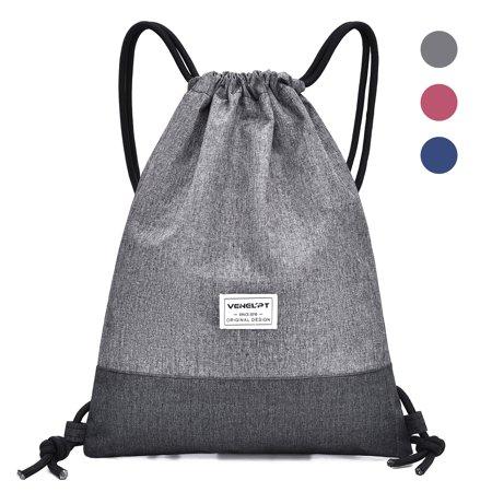 Water-resistant Drawstring Backpack Bag Casual Sport Gym Sackpack Travel Bag for Men Women
