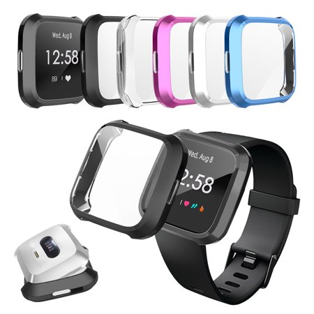 Watch Protective Cover For Fitbit Versa Lite, EEEKit Soft TPU Screen Protector Frame Cover Protective Shell Bumper Compatible with Fitbit Versa Lite Smartwatch
