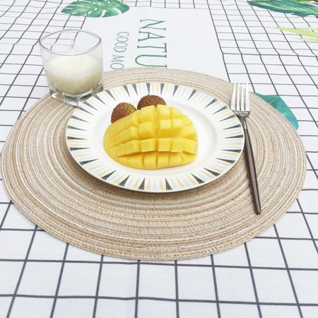 iLH Mallroom Round Circle Placemats Table Place Mats Kitchen Dinner Table Heat Pads 35cm BG