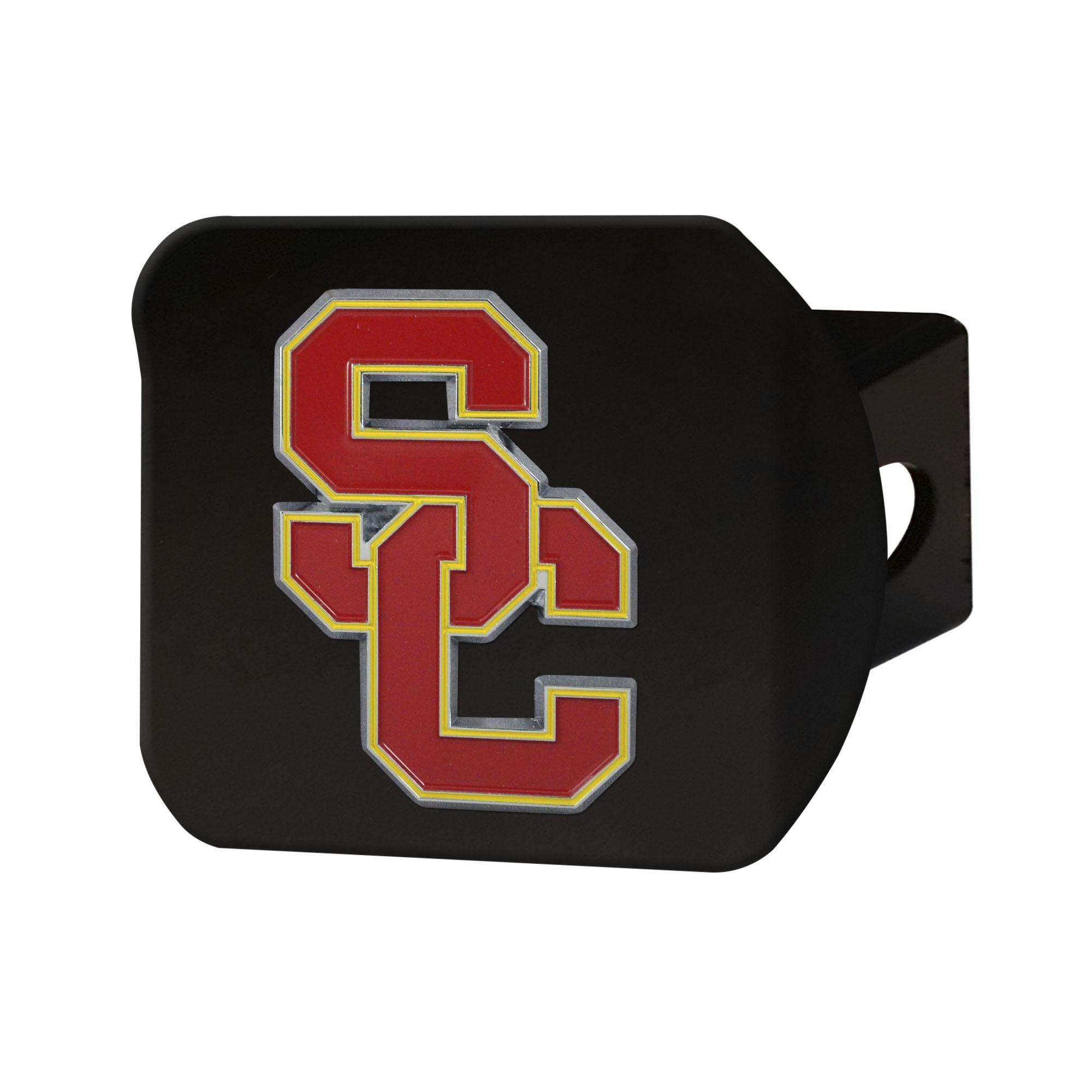"""University of Southern California Color Hitch Black 3.4""""x4"""""""