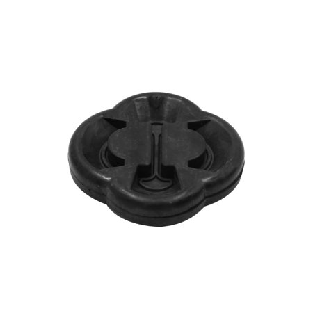 Black Car Rubber Exhaust Tail Pipe Tip Mount Bracket Hanger (Evil Pipe Tip)