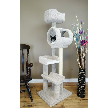 New Cat Condos 69-in Cat Tree & Condo Scratching Post Tower, Multi