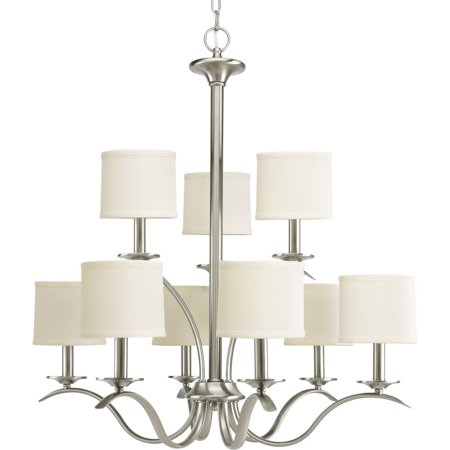 - Inspire Collection Nine-Light, Two-Tier Chandelier