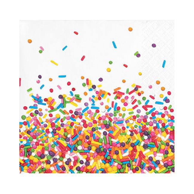 Group  2 Ply Sprinkles Beverage Napkin, Pack of 12 - 16 Per Pack - image 1 de 1