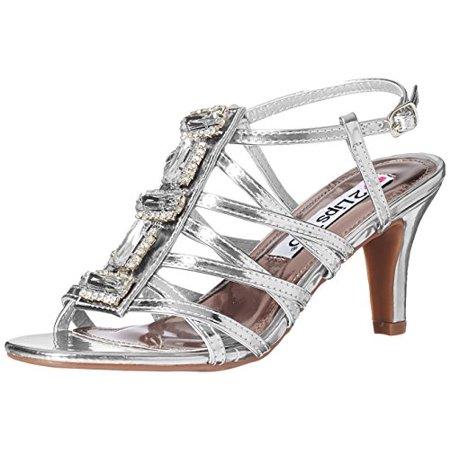 Elle Pumps - 2 Lips Too Women's Too Elle Dress Pump, Silver, 10 M US