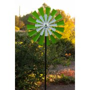 Solar 68'' Dual Kinetic Windmill Stake with LED Light