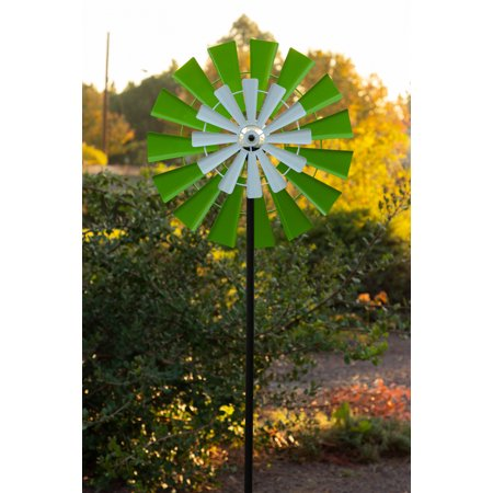 Solar Windmill - Solar 68'' Dual Kinetic Windmill Stake with LED Light