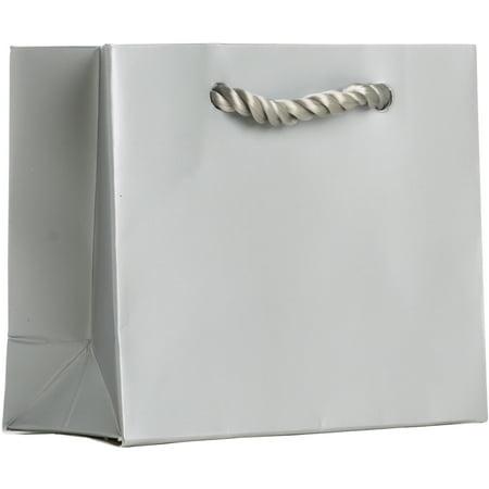 Jillson & Roberts Tiny Gift Bags, Solid Matte Metallic Silver (12 Pcs)](Tiny Gift Bags)