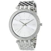 Michael Kors Women's 39mm Silver-Tone Metal Bracelet Steel Case Quartz Analog Watch MK3190