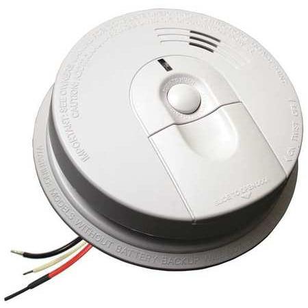 FIREX i4618 Smoke Alarm,Ionization,120VAC, 9V