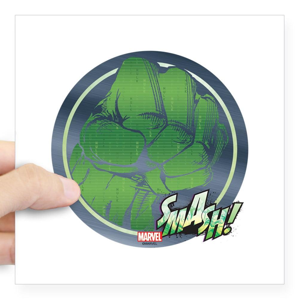 "CafePress - Hulk Fist Square Sticker 3"" X 3 - Square Sticker 3"" x 3"""