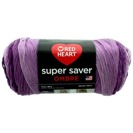 - C&C Red Heart Super Saver Yarn 10oz Ombre Purple